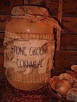 Stone Ground Cornmeal jumbo pantry jar