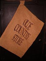 Olde Country Store hanging floursack