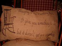 worrying pillow