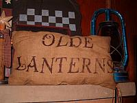olde lanterns pillow