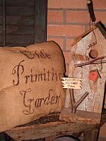 olde primitive garden pillow