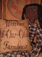 welcome to our olde farmhouse pillow