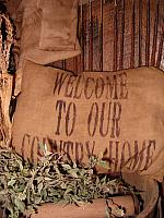 welcome to our country home pillow