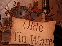 Olde Tin Ware pillow