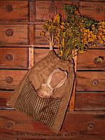 prairie tuck sack with dried florals