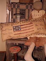 Betsy Ross Flag Co pillow
