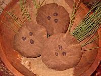 set of three fabric cookies