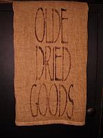 Olde Dried Goods towel