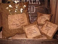 seed label pillows