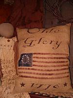 Olde Glory 1776 flag pillow