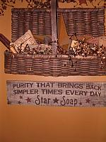 Large Star Soap sign