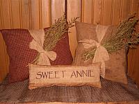 sweet annie tie pillows