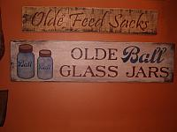 Olde Ball Glass Jars sign
