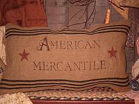 American Mercantile heirloom pillow