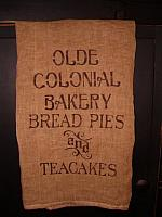 Olde Colonial Bakery towel