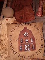 the best memories barn pillow