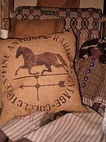 fine antiques weathervane pillow