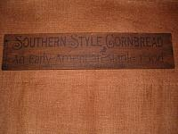 Southern Style Cornbread sign