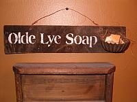 Olde lye soap sign with dish