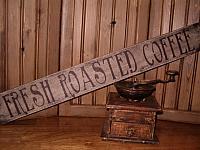 fresh roasted coffee sign