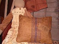 1780 burlap pillow