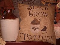 olde crow pottery pillow