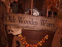 olde wooden wares sign