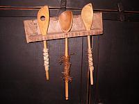 barnwood spoon hanger