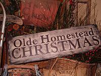 olde homestead Christmas sign