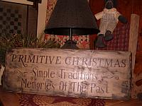 Primitive Christmas sign