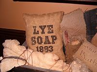 Lye Soap 1893 pillow