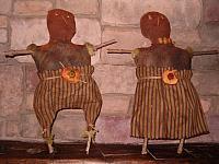 Cornelius and Mazey scarecrows