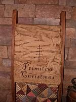 Primitive Christmas table runner