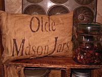 olde mason jars pillow