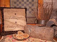Primitives, Antiques, and Collectables preachers knot pillow