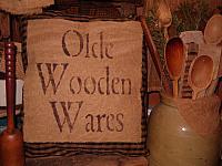 olde wooden wares homespun pillow