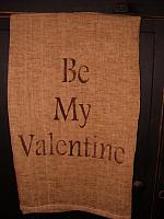 Be My Valentine block letter towel or pillow
