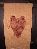 #1419 Happy Valentine's Day towel or pillow