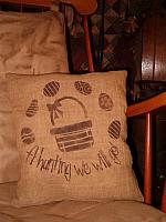 A hunting we will go Easter basket pillow ot towel