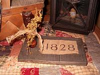 1828 candle board