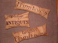 primitive antiques pillow set