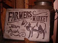 Farmer's Market cow sign