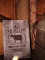 small High Quality feed with cow sign