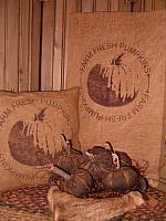 Farm fresh pumpkins pillow or towel