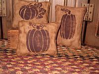 pumpkin pillow tuck set