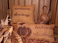 Autumn Blessings pillow tucks