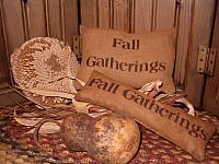Fall Gatherings pillow tucks