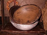 primitive wooden bowls