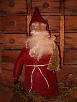 standing red coat Santa