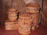 Holiday grungy jars